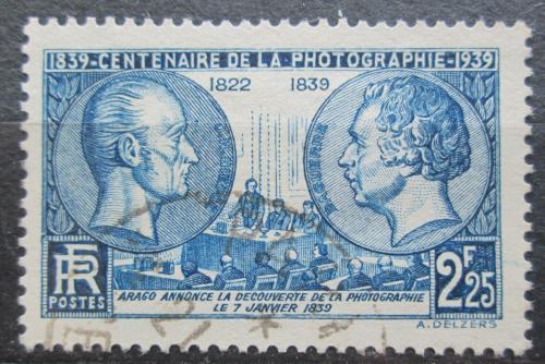 Poštovní známka Francie 1939 Fotografie, 100. výroèí Mi# 446 Kat 5€