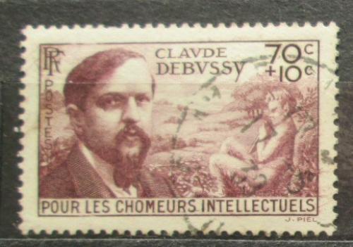 Poštovní známka Francie 1939 Claude Debussy, skladatel Mi# 451 Kat 5€