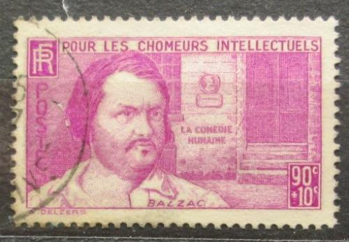 Poštovní známka Francie 1939 Honoré de Balzac, spisovatel Mi# 452 Kat 5€