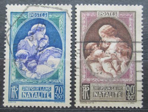 Poštovní známky Francie 1939 Matka s dítìtem Mi# 455-56 Kat 9€