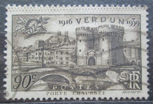 Poštovní známka Francie 1939 Porte Chaussée ve Verdunu Mi# 459