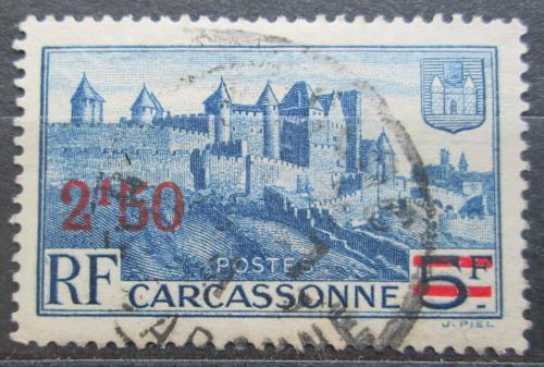 Poštovní známka Francie 1941 Carcassonne pøetisk Mi# 492