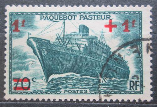 Poštovní známka Francie 1941 Pøepravní loï pøetisk Mi# 511