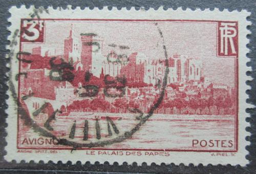 Poštovní známka Francie 1938 Papežský palác v Avignonu Mi# 412 Kat 5€