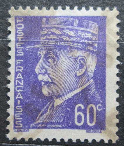Poštovní známka Francie 1942 Maršál Philippe Pétain Mi# 516