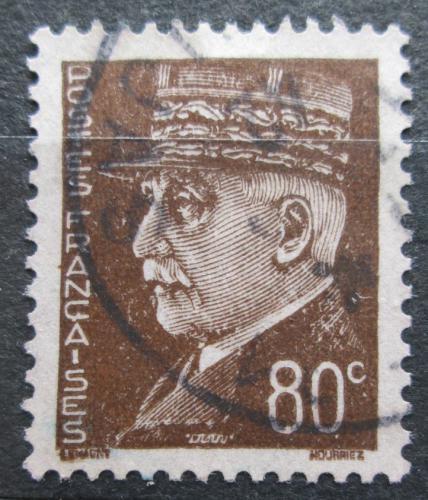 Poštovní známka Francie 1941 Maršál Philippe Pétain Mi# 519