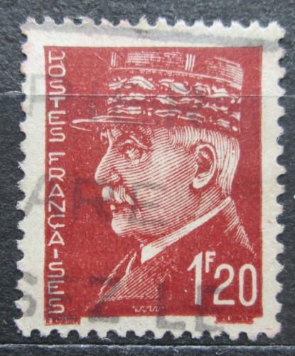 Poštovní známka Francie 1942 Maršál Philippe Pétain Mi# 522