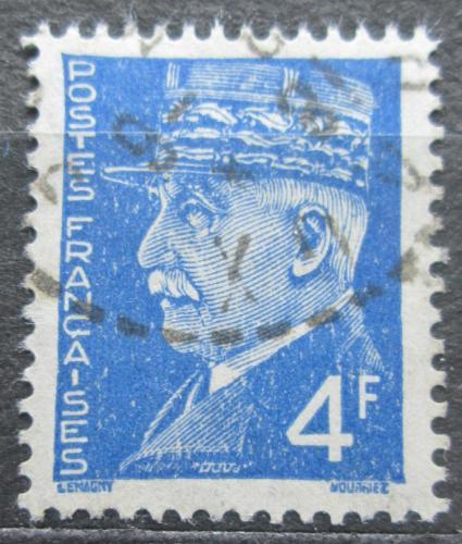 Poštovní známka Francie 1942 Maršál Philippe Pétain Mi# 529