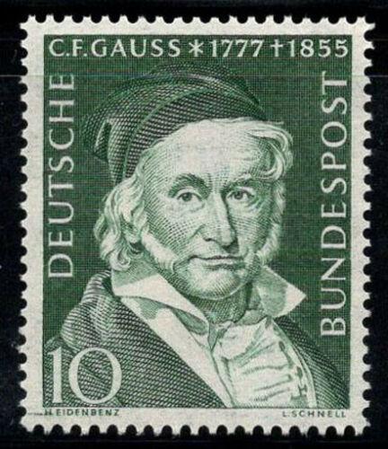 Poštovní známka Nìmecko 1955 Carl Friedrich Gauß, matematik Mi# 204 Kat 6€