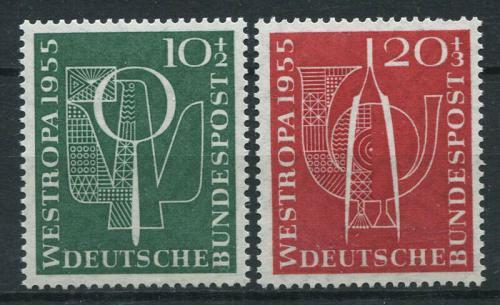 Poštovní známky Nìmecko 1955 Výstava Westropa Mi# 217-18 Kat 17€