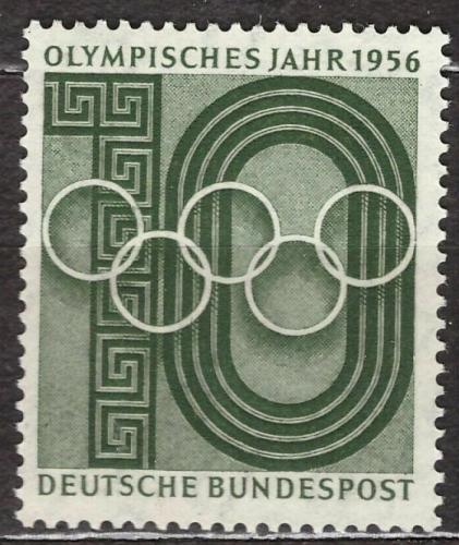 Poštovní známka Nìmecko 1956 Olympijský rok Mi# 231