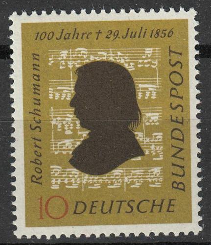 Poštovní známka Nìmecko 1956 Robert Schumann, skladatel Mi# 234