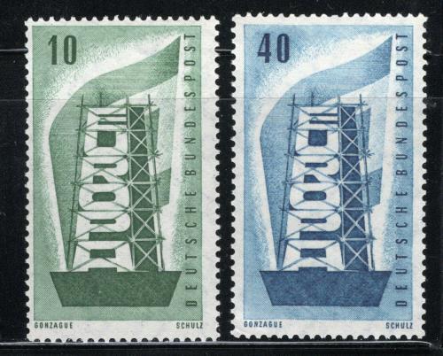 Poštovní známky Nìmecko 1956 Evropa CEPT Mi# 241-42 Kat 10€