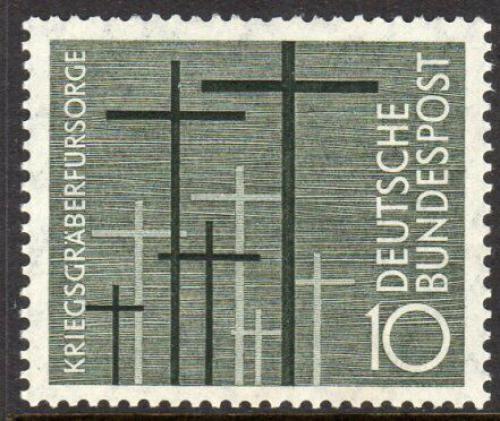 Poštovní známka Nìmecko 1956 Køíže Mi# 248