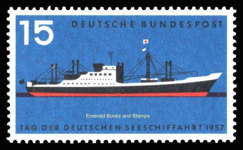 Poštovní známka Nìmecko 1957 Moderní nákladní loï Mi# 257