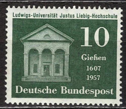 Poštovní známka Nìmecko 1957 Univerzita v Gießenu Mi# 258