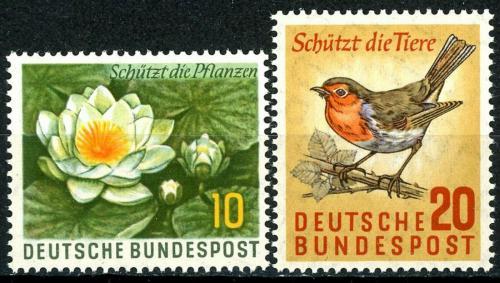 Poštovní známky Nìmecko 1957 Ochrana pøírody Mi# 274-75