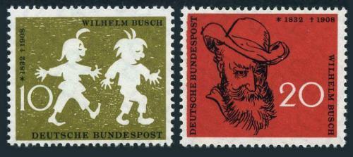 Poštovní známky Nìmecko 1958 Max a Moritz, Wilhelm Busch Mi# 281-82