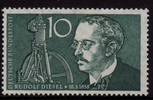Poštovní známka Nìmecko 1958 Rudolf Diesel Mi# 284