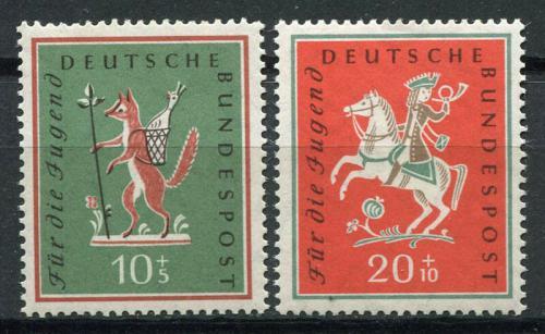 Poštovní známky Nìmecko 1958 Lidové písnì Mi# 286-87 Kat 5.50€
