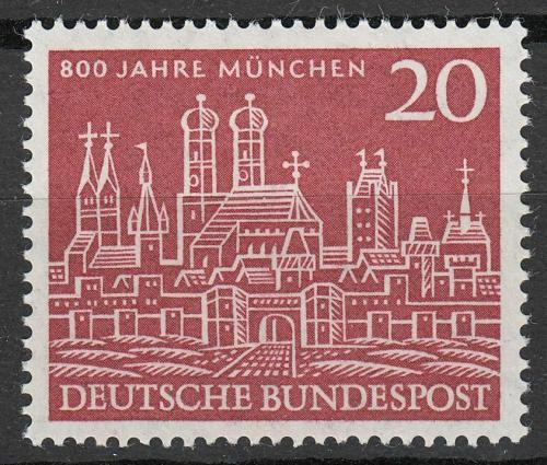 Poštovní známka Nìmecko 1958 Mnichov, 800. výroèí Mi# 289