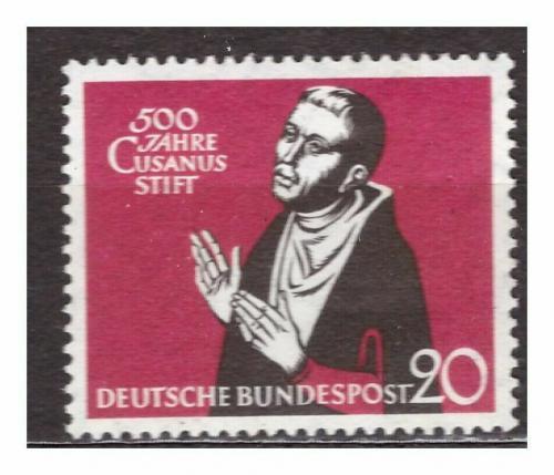Poštovní známka Nìmecko 1958 Mikuláš Kusánský Mi# 301