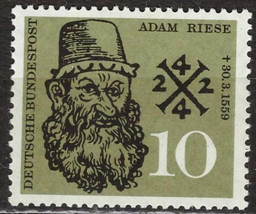 Poštovní známka Nìmecko 1959 Adam Riese Mi# 308