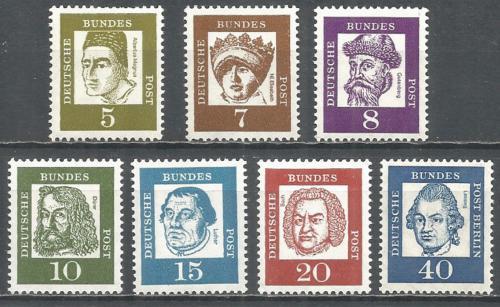 Poštovní známky Nìmecko 1961 Osobnosti Mi# 347-55 x