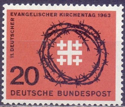 Poštovní známka Nìmecko 1963 Den evangelíkù Mi# 405