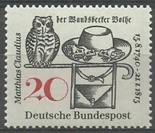 Poštovní známka Nìmecko 1965 Matthias Claudius Mi# 462