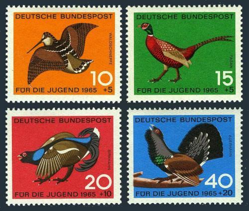 Poštovní známky Nìmecko 1965 Ptáci Mi# 464-67