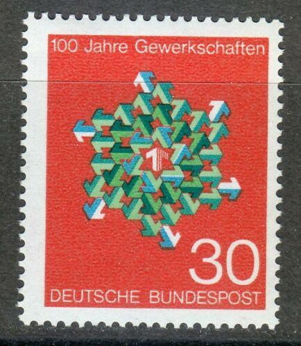 Poštovní známka Nìmecko 1968 Odbory, 100. výroèí Mi# 570