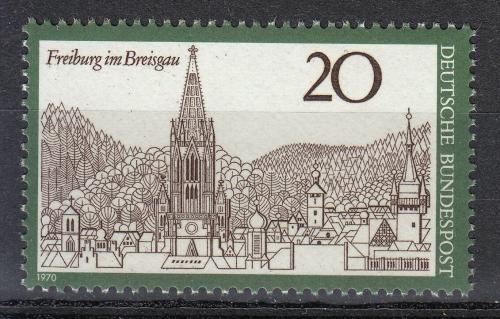 Poštovní známka Nìmecko 1970 Freiburg im Breisgau Mi# 654