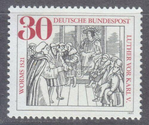 Poštovní známka Nìmecko 1971 Martin Luther a král Karel V. Mi# 669