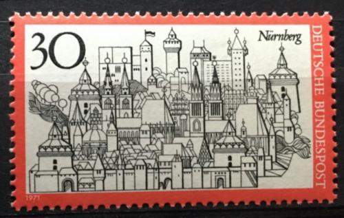 Poštovní známka Nìmecko 1971 Norimberk Mi# 678