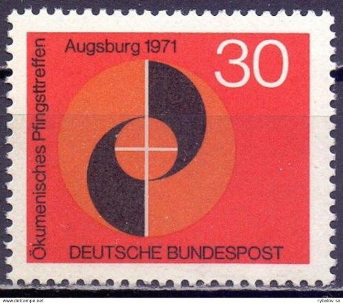 Poštovní známka Nìmecko 1971 Náboženské setkání Mi# 679