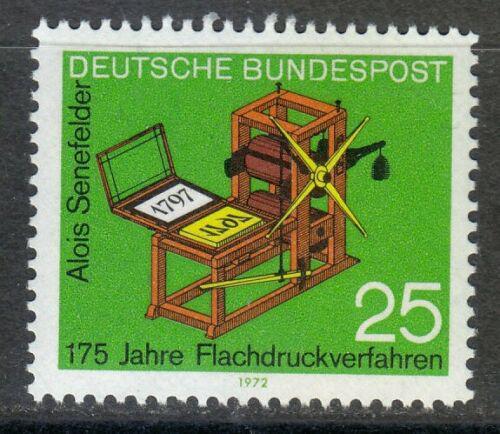 Poštovní známka Nìmecko 1972 Tiskaøský stroj Mi# 715
