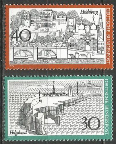 Poštovní známky Nìmecko 1972 Mìsta Mi# 746-47