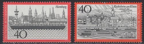 Poštovní známky Nìmecko 1973 Mìsta Mi# 761-62