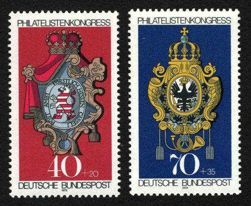 Poštovní známky Nìmecko 1973 Poštovní erby Mi# 764-65