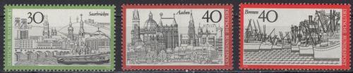 Poštovní známky Nìmecko 1973 Mìsta Mi# 787-89