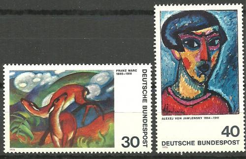 Poštovní známky Nìmecko 1974 Umìní Mi# 798-99