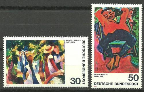 Poštovní známky Nìmecko 1974 Umìní Mi# 816-17