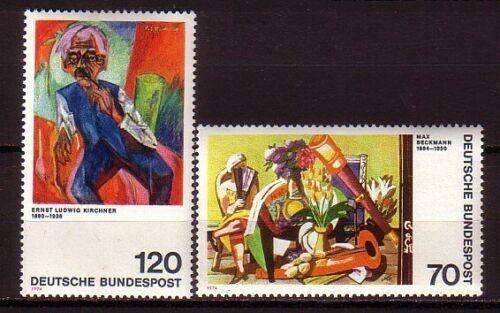 Poštovní známky Nìmecko 1974 Umìní Mi# 822-23