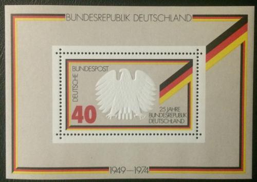 Poštovní známka Nìmecko 1974 Vznik republiky, 25. výroèí Mi# Block 10