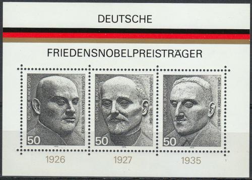 Poštovní známky Nìmecko 1975 Nositelé Nobelovy ceny za mír Mi# Block 11