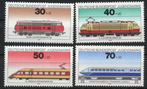 Poštovní známky Nìmecko 1975 Lokomotivy Mi# 836-39 Kat 5€