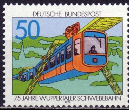 Poštovní známka Nìmecko 1976 Visutá dráha ve Wuppertalu Mi# 881