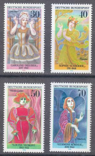 Poštovní známky Nìmecko 1976 Hereèky Mi# 908-11