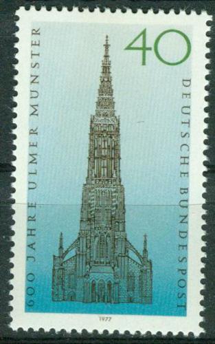 Poštovní známka Nìmecko 1977 Velechrám v Ulmu Mi# 937